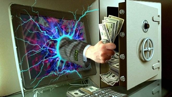 Arm, Tastatur, Kriminalit�t, Monitor, Cybercrime, Computerkriminalit�t, Safe, Bargeld, Geldschein