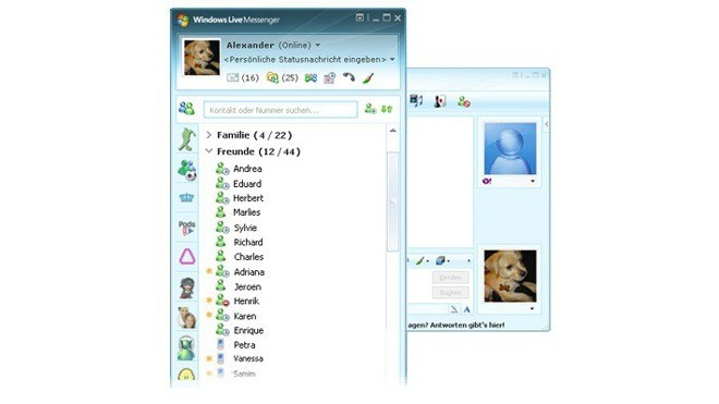 Interface, Oberfl�che, Windows Live Messenger