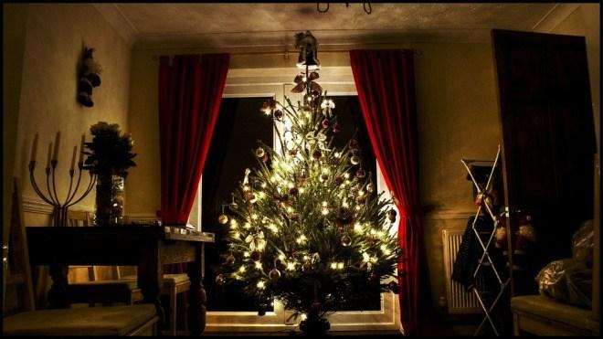 Weihnachten, Wohnzimmer, Weihnachtsbaum