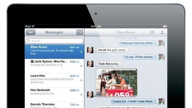 Ipad, iOS 5, iMessage