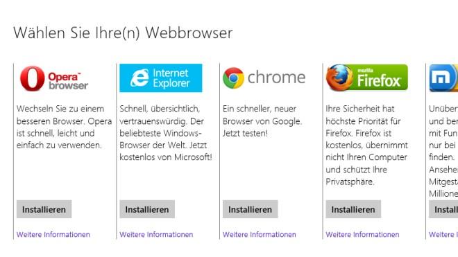 Windows 8.1, Eu, Browserwahl