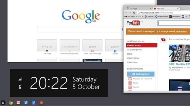 Windows 8, Chrome OS, Chrome OS Windows 8