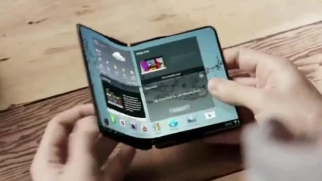 Samsung, Display, Bildschirm, Konzept, faltbar