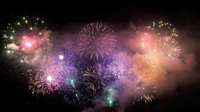 Licht, Silvester, Feuerwerk